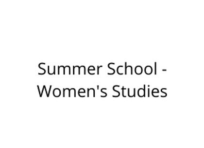 Summer School - Women's Studies