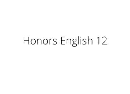 Honors English 12