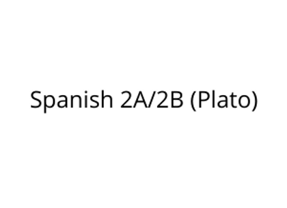 Spanish 2A/2B (Plato)