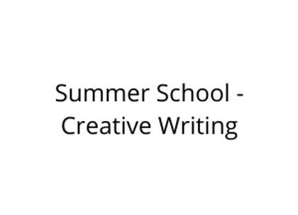 Summer School - Creative Writing