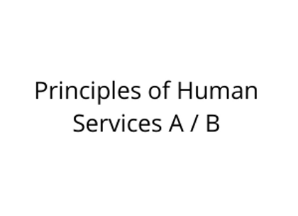 Principles of Human Services A / B