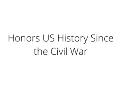 Honors US History Since the Civil War
