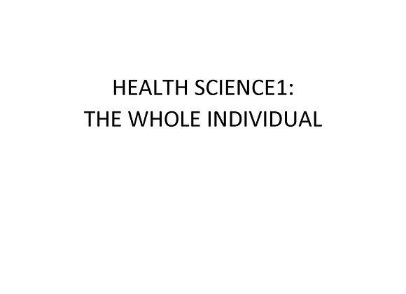 ED Health Science I: The Whole Individual