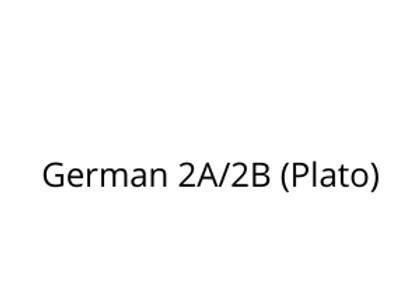 German 2A/2B (Plato)