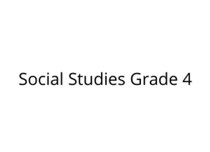 Social Studies Grade 4