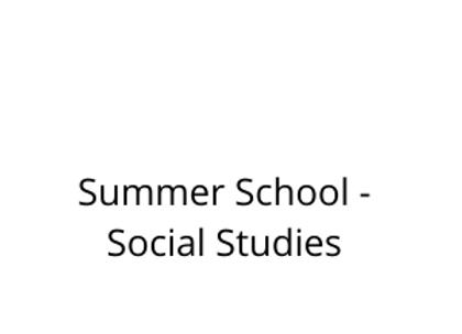 Summer School - Social Studies