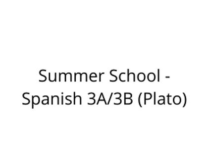 Summer School - Spanish 3A/3B (Plato)