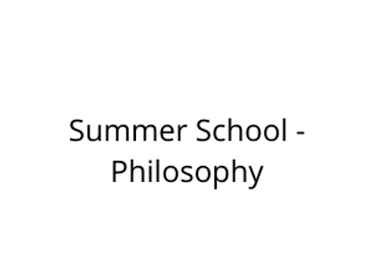 Summer School - Philosophy