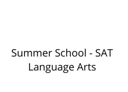 Summer School - SAT Language Arts
