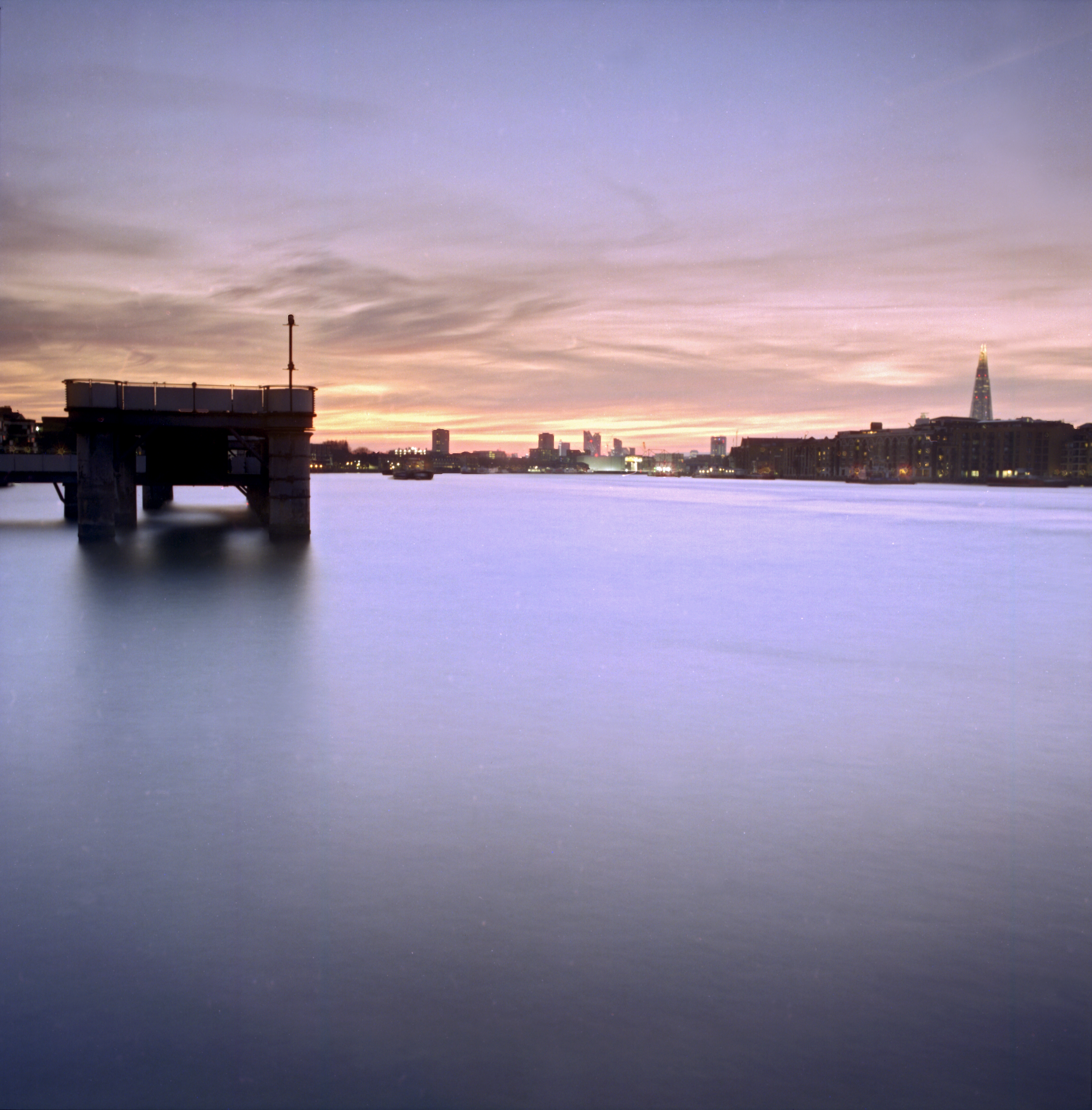 Dusk, Rotherhithe, London