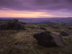Winter Sunset, Bridestones, West Yorkshire