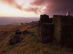 Bridestones sunset, West Yorkshire