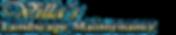 Villa's Landscape & Maintenance Logo with