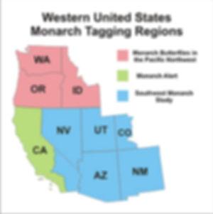 Western US Monarch Tagging Regions sm.jp