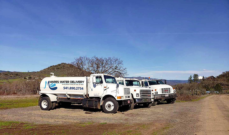 Marie's Water Delivery in Jackson Caounty offering bulk water delivery for rural property, swimming pools, and drinking water