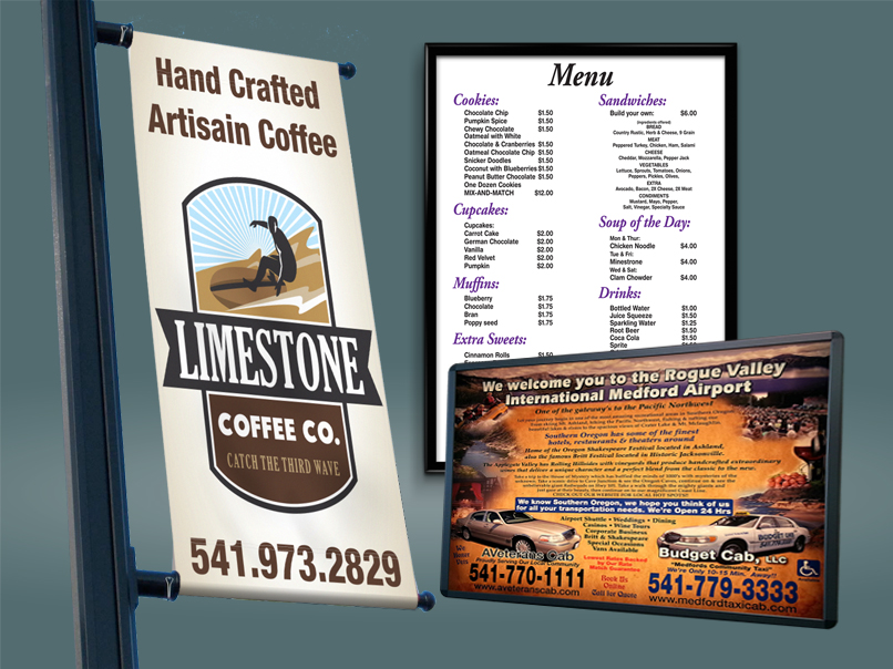 Indoor and Outdoor Signs, Menus