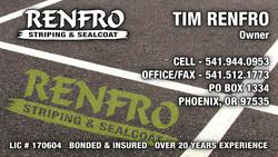 Renfro Striping & Sealcoat