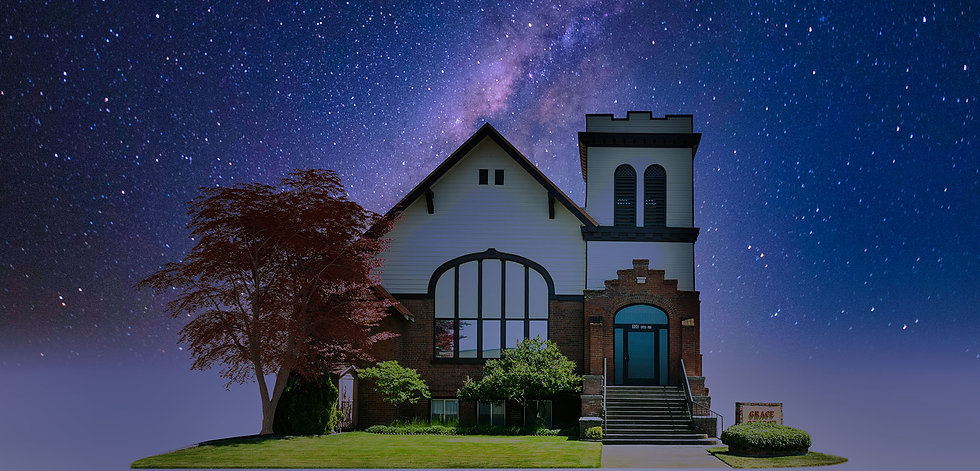 Grace Church Front Isolated Galaxy 2 Sky