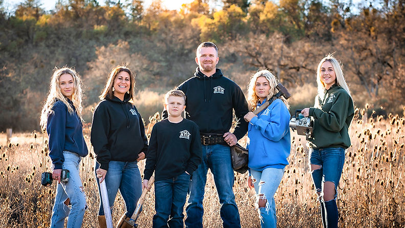 Harvey Hanover and his family with HHH Construction in Central Point Oregon