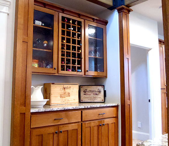 Custom Wood Bar and Wine Rack