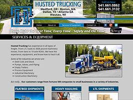 Transportation Trucking Brokers website design in Medford Oregon