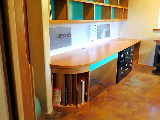 Custom Desk and Cabinets Medford