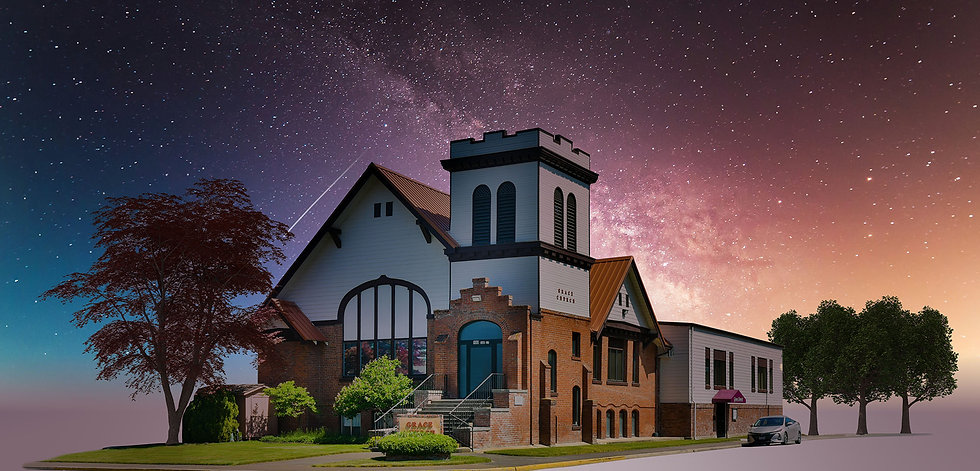 Grace Church Isolated Starry Night 1 Sky