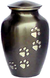 brass dog, cat or pet cremation urn in southern oregon