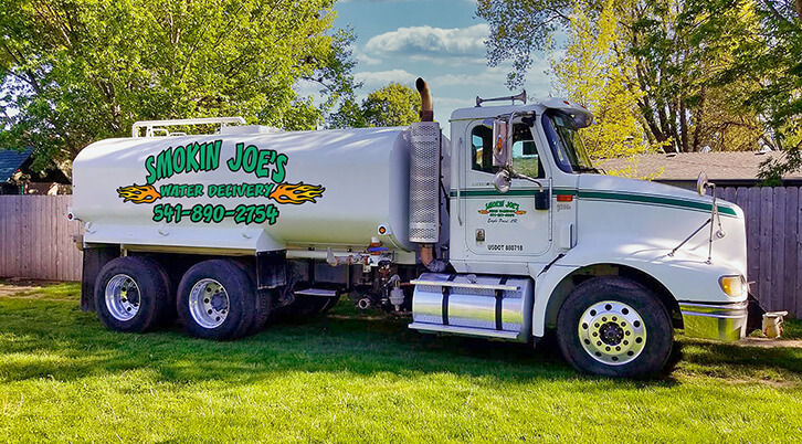 Smokin Joe's Reliable and affordable bulk water delivery in jackson county oregon