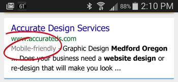Mobile-friendly website design and hosting in Medford Oregon