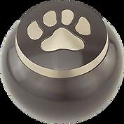 brushed pewter dog, cat or pet urn in medford oregon