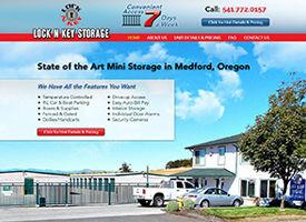 Mini storage website Design