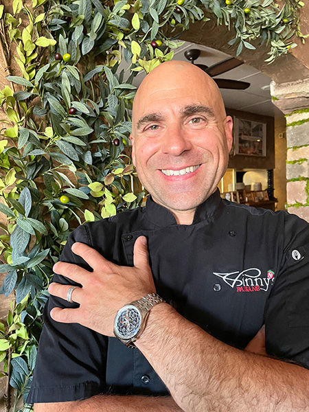 Vinny DiCostanzo, owner of Vinny's Italian Kitchen in Medford Oregon. Voted best Italian Food Restaurant 10 years in a row.