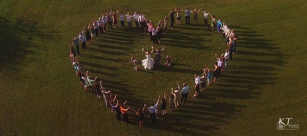 Hochzeitsfoto mittels Multicopter