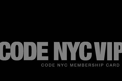 Code NYC V.I.P Card