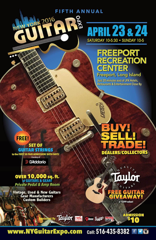 5th Annual NY Guitar Show & Exposition Only Weeks Away with Sponsorships by Some of the Biggest