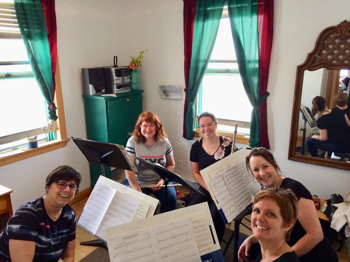 Sectionnelle de flûtes avec Diane Caplette