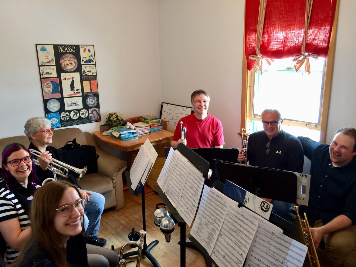 Sectionnelle de trompettes avec Nicolas Leblanc
