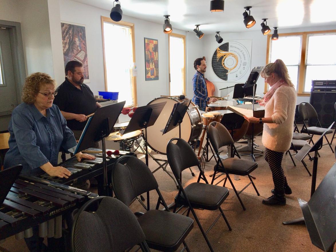 Sectionnelle de percussions avec Élise Béchard