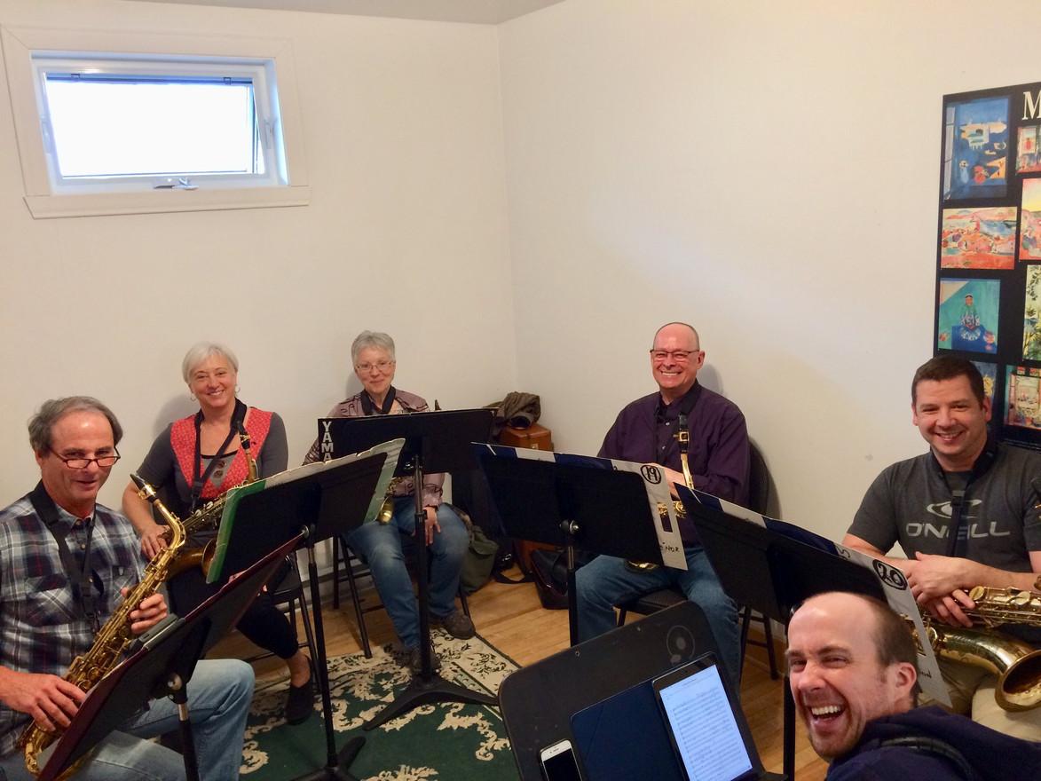 Sectionnelle de saxophones avec Robert-Étienne Siméon