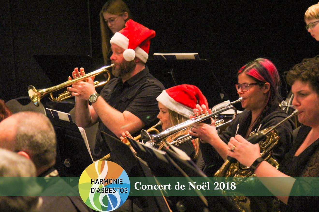 Les trompettes de l'Harmonie cadette à Noël