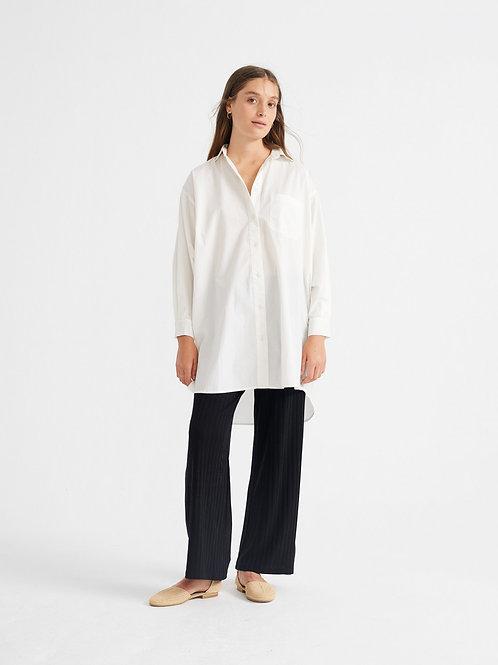 White silvia oversize dress
