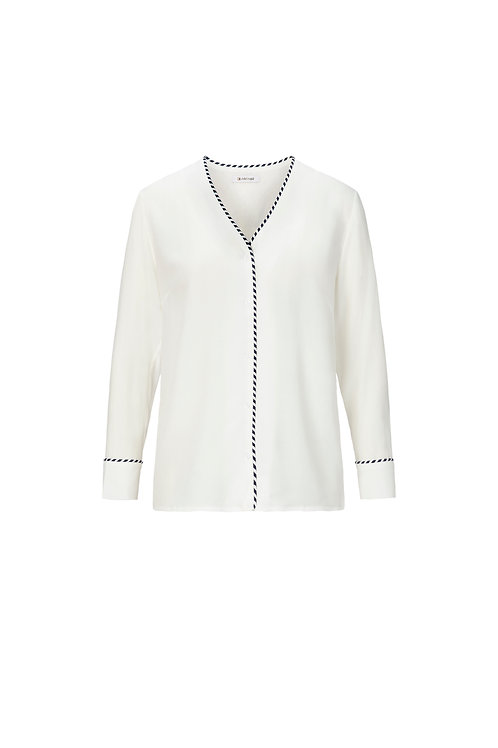 Modern Peal White Bluse