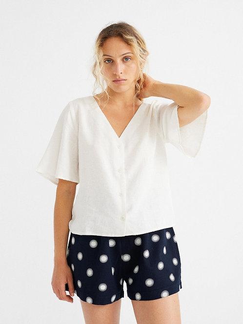 White hemp libelula blouse
