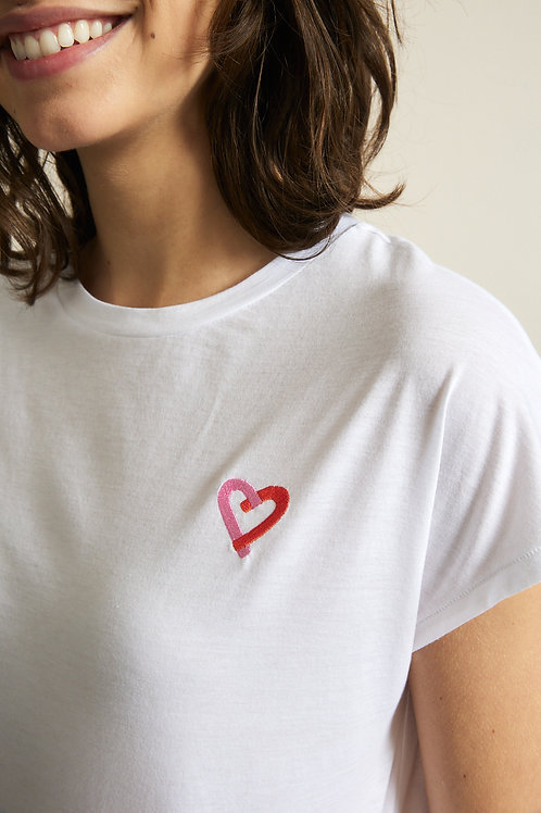 """Statement Shirt """"HEART"""" GOTS"""