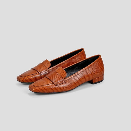 LAYLA Cognac Cow Leather Shoes