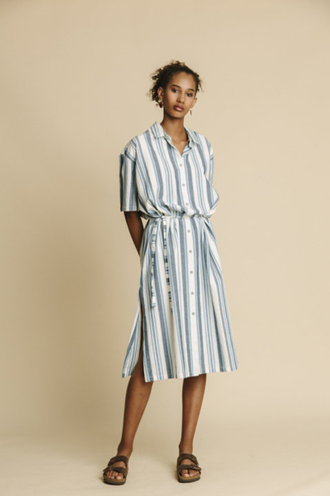 Dress blue stripes