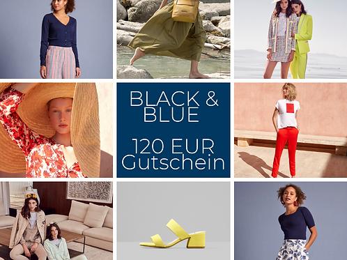 120 EUR BLACK & BLUE GUTSCHEIN