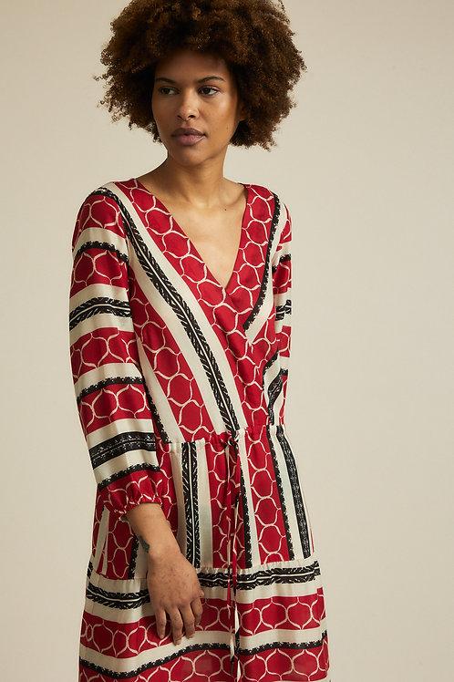 Midi-Kleid mit Wickeloptik