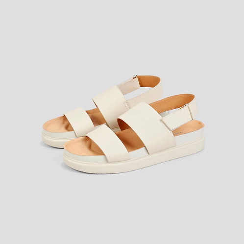 ERIN Off White Goat Leather Sandals